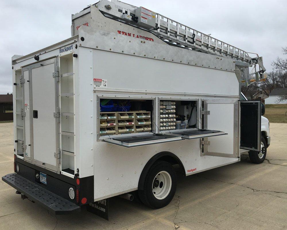 Van ladder bucket trucks elevating you to new heights